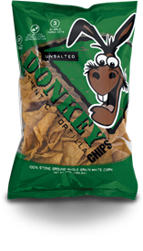 Unsalted Donkey Chips, 14 oz